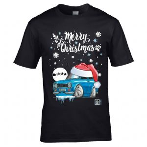 Premium Koolart Christmas Santa Hat Design & Mk1 Escort RS Mexico car gift mens t-shirt top
